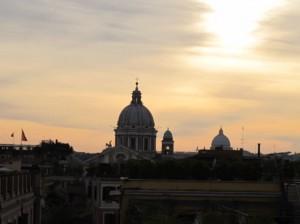 Rome skyline at night